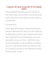 3 nguyên tắc quan trọng khi thi tốt nghiệp THPT pdf