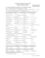 THE FIRST SEMESTER EXAMINATION SUBJECT: ENGLISH - GRADE 12 - Mã đề thi 493 potx