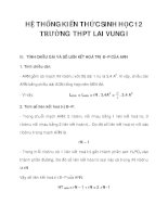 HỆ THỐNG KIẾN THỨC SINH HỌC 12 TRƯỜNG THPT LAI VUNG I_2 pdf