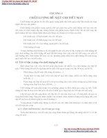 GIÁO TRÌNH CƠ SỞ CÔNG NGHỆ CHẾ TẠO MÁY - CHƯƠNG 4 CHẤT LƯỢNG BỀ MẶT CHI TIẾT MÁY potx