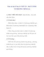 Giáo án đại số lớp 10: ĐẠI CƯƠNG VỀ PHƯƠNG TRÌNH pdf