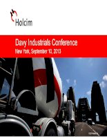 davy industrials conference new york september 10 2013 holcim