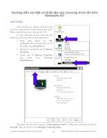 Hướng dẫn cài đặt và thiết lập các chương trình 3D trên Windows NT phần 1 docx