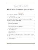 Phân tích và đánh giá cổ phiếu FPT