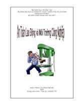 Giáo trình An toàn lao động và môi trường công nghiệp - Chương 1 ppsx