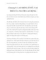 Khái quát về nền kinh tế Mỹ - Chương 9: LAO ĐỘNG Ở MỸ: VAI TRÒ CỦA NGƯỜI LAO ĐỘNG potx