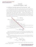 GIÁO TRÌNH PHÂN TÍCH MÔI TRƯỜNG - PHẦN 1 CƠ SỞ LÝ THUYẾT HOÁ HỌC PHÂN TÍCH (phân tích định lượng) - CHƯƠNG 5 ppsx