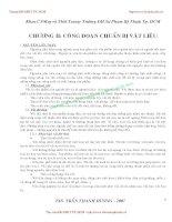 GIÁO TRÌNH CÔNG NGHỆ MAY TRANG PHỤC 2 - CHƯƠNG II: CÔNG ĐOẠN CHUẨN BỊ VẬT LIỆU pptx