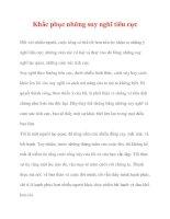 Khắc phục những suy nghĩ tiêu cực pdf
