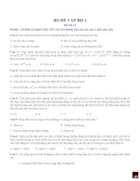 TUYỂN TẬP ĐỀ ÔN THI TỐT NGHIỆP TRUNG HỌC PHỔ THÔNG MÔN VẬT LÍ - PHẦN III doc