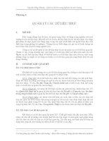 Quản lý dữ liệu trong nghiên cứu môi trường - Chương 4 ppsx