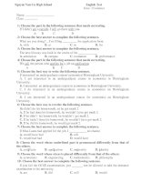 English Test Time: 15 minutes pps