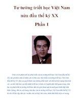 Tư tưởng triết học Việt Nam nửa đầu thế kỷ XX Phần 1 doc
