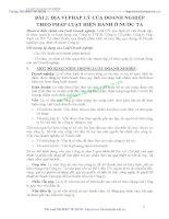 BÀI GIẢNG LUẬT DOANH NGHIỆP - BÀI 2: ĐỊA VỊ PHÁP LÝ CỦA DOANH NGHIỆP THEO PHÁP LUẬT HIỆN HÀNH Ở NƯỚC TA pot