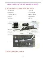 Giáo án điện công nghiệp - Chương 6: KỸ THUẬT LẮP ĐẶT ĐIỆN CÔNG NGHIỆP pps