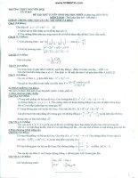 Đề thi thử toán - THPT Nguyễn Huệ pot
