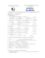 KỲ THI HỌC SINH GIỎI CẤP TỈNH CÀ MAU MÔN: ANH VĂN - Trường THPT Chuyên Phan Ngọc Hiển pptx