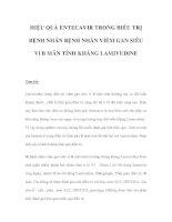 HIỆU QUẢ ENTECAVIR TRONG ĐIỀU TRỊ BỆNH NHÂN BỆNH NHÂN VIÊM GAN SIÊU VI B MÃN TÍNH KHÁNG LAMIVUDINE pps