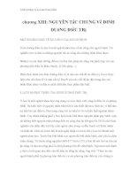 Dinh dưỡng và an toàn thực phẩm - chương XIII: NGUYÊN TắC CHUNG Về DINH DUỡNG ĐIềU TRị docx