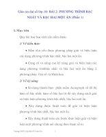 Giáo án đại số lớp 10: PHƯƠNG TRÌNH BẬC NHẤT VÀ BẬC HAI MỘT ẨN (Phần 1) ppsx