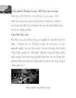 Chợ phiên Thăng Long - Hà Nội xưa và nay ppt