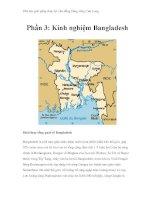 Thử tìm giải pháp thủy lợi cho đồng bằng sông Cửu Long - Phần 3: Kinh nghiệm Bangladesh ppt