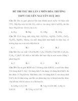 ĐỀ THI THỬ ĐH LẦN 1 MÔN HÓA TRƯỜNG THPT CHUYÊN NGUYỄN HUỆ 2011_2 m gam ppsx