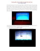 Hướng dẫn cách cài đặt cho máy tính xách tay Acer Aspire 4520 ppsx