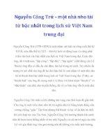 Nguyễn Công Trứ - một nhà nho tài tử bậc nhất trong lịch sử Việt Nam trung đại_1 ppt
