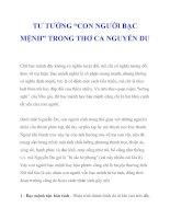 """TƯ TƯỞNG """"CON NGƯỜI BẠC MỆNH"""" TRONG THƠ CA NGUYỄN DU_1 doc"""