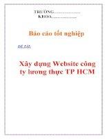 Đồ án tốt nghiệp: Xây dựng Website công ty lương thực TP HCM ppsx