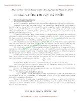 GIÁO TRÌNH CÔNG NGHỆ MAY TRANG PHỤC 2 - CHƯƠNG IV: CÔNG ĐOẠN RÁP NỐI pptx