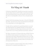 Vài nét về sự phát triển của Triết học Trung Hoa - Từ Tống tới Thanh pdf