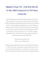 Nguyễn Công Trứ - một nhà nho tài tử bậc nhất trong lịch sử Việt Nam trung đại_2 doc