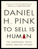 To sell is human  the surprising truth a   daniel h pink