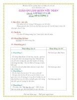 Giáo án mầm non chương trình đổi mới: Chủ đề: LỚP HỌC CỦA BÉ Đề tài: SỐ LƯỢNG 2 potx