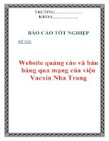Đồ án tốt nghiệp : Website quảng cáo và bán hàng qua mạng của viện Vacxin Nha Trang pot