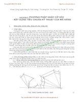 Giáo trình Thiết kế trang phục V - CHƯƠNG 3 PHƯƠNG PHÁP NHẢY CỠ VÓC - XÂY DỰNG TIÊU CHUẨN KỸ THUẬT CỦA MÃ HÀNG potx