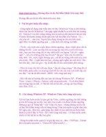 Giáo trình tin học : Hướng dẫn cài đa Hệ Điều Hành trên máy tính pdf
