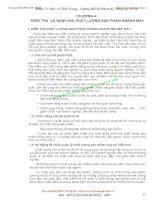 GIÁO TRÌNH QUẢN LÝ CHẤT LƯỢNG TRANG PHỤC - CHƯƠNG IV KIỂM TRA VÀ ĐÁNH GIÁ CHẤT LƯỢNG SẢN PHẨM NGÀNH MAY pps
