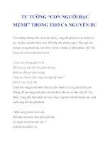 """TƯ TƯỞNG """"CON NGƯỜI BẠC MỆNH"""" TRONG THƠ CA NGUYỄN DU_3 doc"""