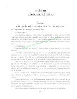GIÁO TRÌNH CÔNG NGHỆ KIM LOẠI - PHẦN III CÔNG NGHỆ HÀN - CHƯƠNG 1 pdf