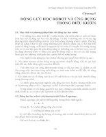 Giáo trình KỸ THUẬT ROBOT - Chương 5 potx