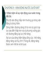 ĐỊA CHẤT CÔNG TRÌNH - CHƯƠNG 5- VẬN ĐỘNG NƯỚC DƯỚI ĐẤT docx