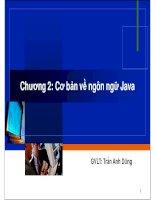 Chương 2: Cơ bản về ngôn ngữ Java docx