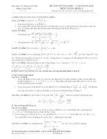 đề thi thử ĐH sư phạm hà nội môn toán doc