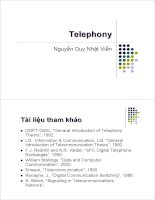 Bài giảng : Kỹ thuật điện thoại - Lịch sử phát triển part 1 pps
