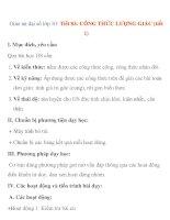 Giáo án đại số lớp 10: Tiết 83: CÔNG THỨC LƯỢNG GIÁC (tiết 1) ppsx