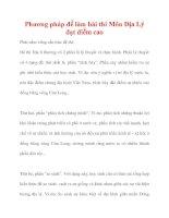 Phương pháp để làm bài thi Môn Địa Lý đạt điểm cao ppt