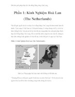 Thử tìm giải pháp thủy lợi cho đồng bằng sông Cửu Long - Phần 1: Kinh Nghiệm Hoà Lan (The Netherlands) ppsx